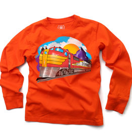 Wes And Willy Train LS Tee Orange Crush Blend