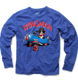 Wes And Willy Wingman LS Tee Blue Moon Blend