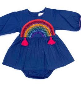 Cheeni Choose Joy Baby Dress Navy