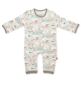 Magnificent Baby Big Sky Modal Magnetic Coverall