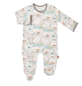 Magnificent Baby Big Sky Modal Magnetic Footie