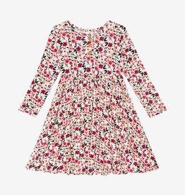 Posh Peanut Janie LS Henley Twirl Dress