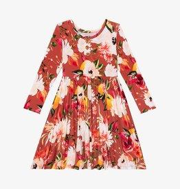 Posh Peanut Leonora LS Henley Twirl Dress