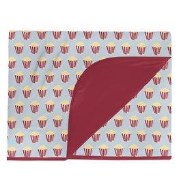 Kickee Pants Toddler Blanket Illusion Blue Popcorn