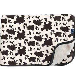 Kickee Pants Sherpa-Lined Toddler Blanket Cow Print