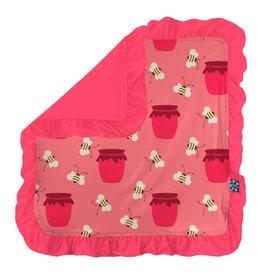 Kickee Pants Ruffle Lovey Strawberry Bees & Jam