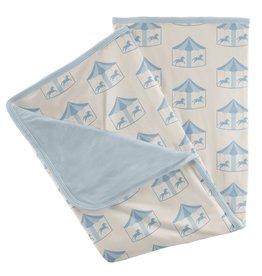 Kickee Pants Stroller Blanket Natural Carousel