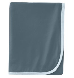 Kickee Pants Swaddling Blanket Slate w/ Illusion Blue