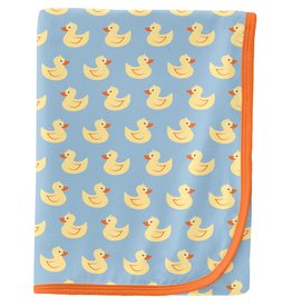 Kickee Pants Swaddling Blanket Pond Rubber Ducks