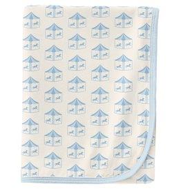 Kickee Pants Swaddling Blanket Natural Carousel