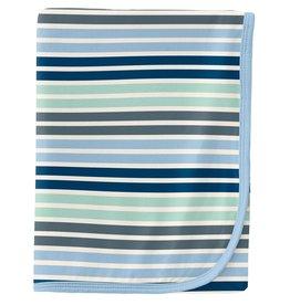 Kickee Pants Swaddling Blanket Fairground Stripe
