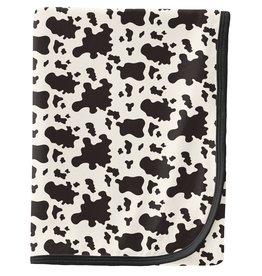Kickee Pants Swaddling Blanket Cow Print