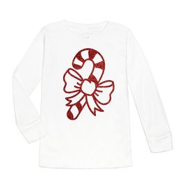 Sweet Wink Candy Cane LS Shirt White