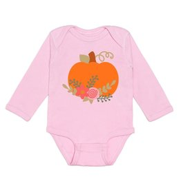 Sweet Wink Pumpkin Flower SS Bodysuit Light Pink