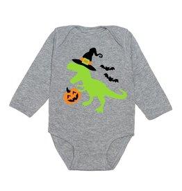 Sweet Wink Spookysaurus LS Bodysuit Gray