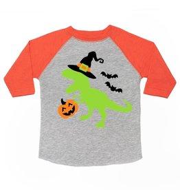 Sweet Wink Spookysaurus LS Shirt Heather/Orange