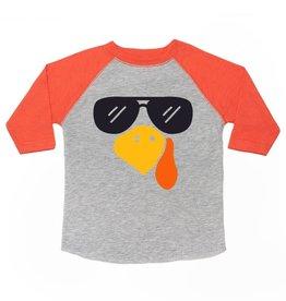 Sweet Wink Turkey Shades LS Shirt Heather/Orange