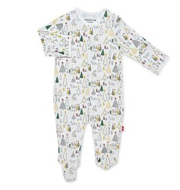 Magnificent Baby Silent Night Holiday Modal Magnetic Footie