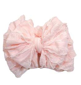 In Awe Couture Ruffle Headband Sweet Pink