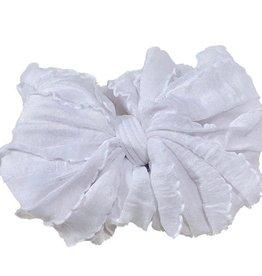 In Awe Couture Ruffle Headband White
