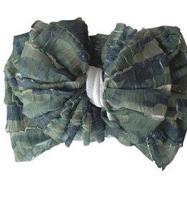In Awe Couture Ruffle Headband Camo