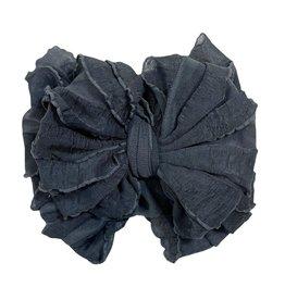 In Awe Couture Ruffle Headband Dark Grey