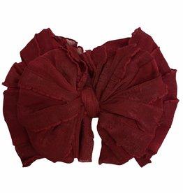 In Awe Couture Ruffle Headband Deep Red