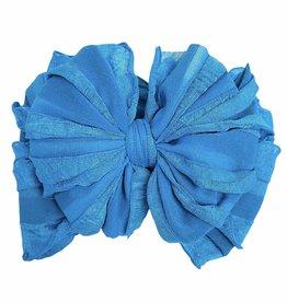 In Awe Couture Ruffle Headband Electric Blue