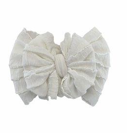 In Awe Couture Ruffle Headband Ivory