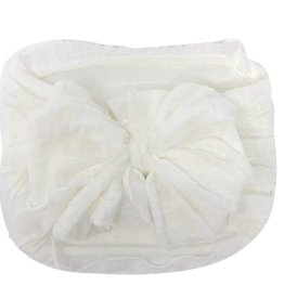 In Awe Couture Ruffle Headband Off-White