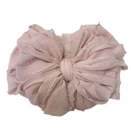 In Awe Couture Ruffle Headband Paris Pink