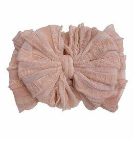 In Awe Couture Ruffle Headband Peach
