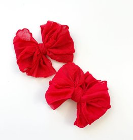 In Awe Couture Individual Ruffle Clip Bright Red