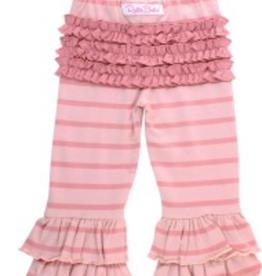 Ruffle Butts/Rugged Butts Ballet Pink & Dusty Rose Stripe Ruffle Pants