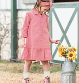 Ruffle Butts/Rugged Butts Dusty Rose Corduroy Dress