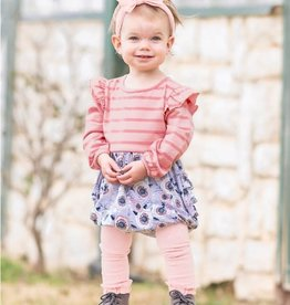 Ruffle Butts/Rugged Butts Off the Stem & Stripe Flutter Bubble Romper