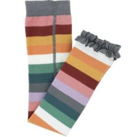 Ruffle Butts/Rugged Butts Rainbow Stripe Footless Ruffle Tights