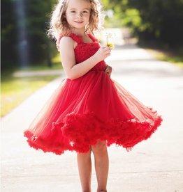 Ruffle Butts/Rugged Butts Red Princess Petti Dress