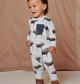 Tea Collection On the Move Baby Romper Moose