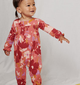 Tea Collection Sweetly Smocked Romper Tossed Floral
