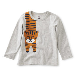 Tea Collection Tiger Graphic Tee Light Grey Heather