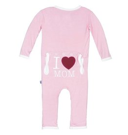 Kickee Pants I Love Mom Coverall Lotus