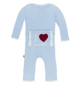 Kickee Pants I Love Grandma Coverall Pond