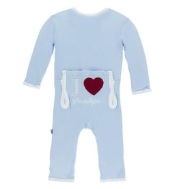 Kickee Pants I Love Grandpa Coverall Pond