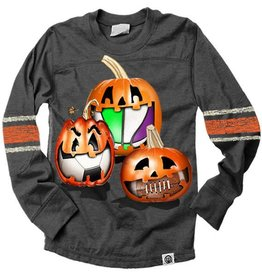 Wes And Willy Sporty Pumpkin Mid Sleeve Stripe Black Blend