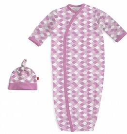 Magnificent Baby Pink Mod Fish Modal Gown & Hat