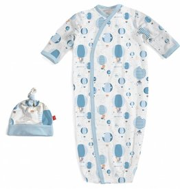 Magnificent Baby Blue Up In The Air Modal Gown & Hat