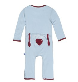 Kickee Pants Holiday Applique Coverall Pond Sweetheart