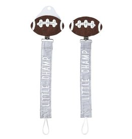 Mud Pie Little Champ Football Paci Clip