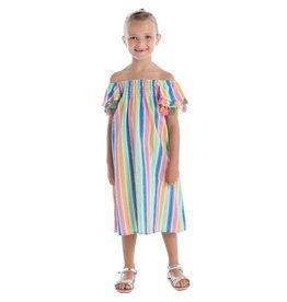 Masala Baby Rainbow Stripe Multi Dress